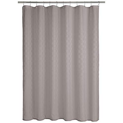 Amazon Basics - Cortina de ducha de poliéster estilo Bowery, gris tormenta, 183 x 200 cm