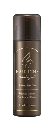 医薬部外品 HAIRICHE ヘアリシェ ナチュラルエアリーカラー ダークブラウン 60g約1カ月分 [ レディース メンズ 兼用 白髪染め 髪染め 泡カラー ]