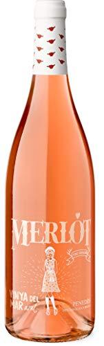 Vinya del Mar Rosado Merlot - Vino Rosado D.O. Penedés, 750 ml, 1 botella