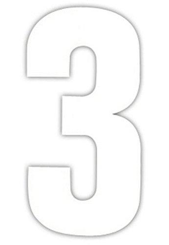 2 Große Nummern Für Mülltonnen Selbstklebend Aufkleber Weiße Nummer -3