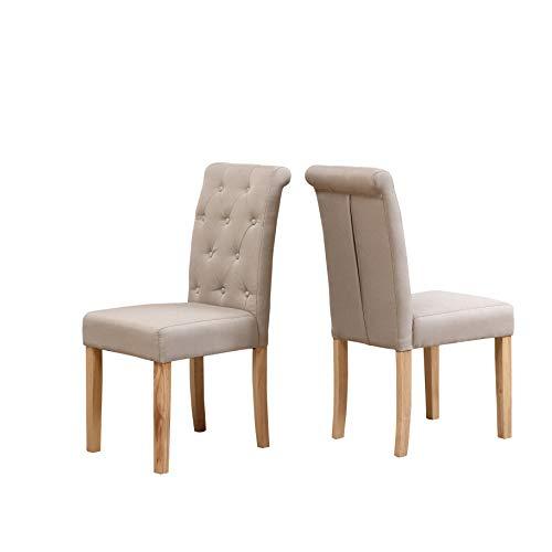 Neo® - Coppia di sedie in legno di quercia con schienale alto...