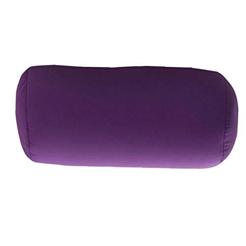 almohada cilindro, cojín, soporte para el cuello, almohadilla del cuello de la espuma-fil, una almohada de color sólido de la siesta, para el recorrido de oficina y hogar confortable almohada