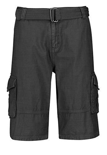 Eight2Nine Herren Cargo-Shorts mit Gürtel & Seitentaschen Black 31