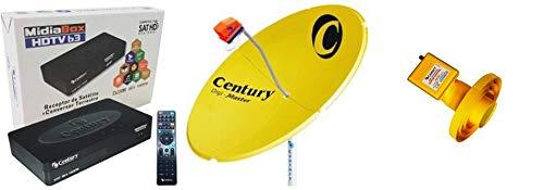 Antena Parabolica Digital Century-Canais HD