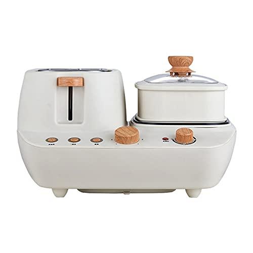 YAYA2021-SHOP Máquina para Hacer Pan Máquina de Pan Rebanada doméstica Máquina de Desayuno multifunción Pequeña máquina de Pan de Huevo al Vapor/Frito Panificadora Máquina