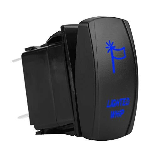 Qii lu 12V-20A 24V-10A 5Pin Verlichte zweep Tuimelschakelaar Aan-uit LED-licht Waterdicht voor auto's, motorfietsen, bussen, boten, campers, aanhangwagens, enz(Blauw)