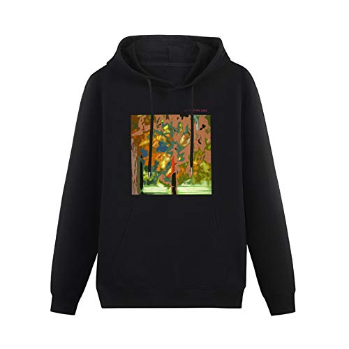 Cool Sweaters for Teenagers Brian Eno Lux Pop Album Cover Hip-hop Pullovers Black XL