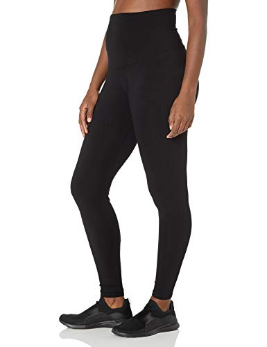 Motherhood Maternity Women's Bounceback Compression Post Pregnancy Full Length Legging, Black, Small