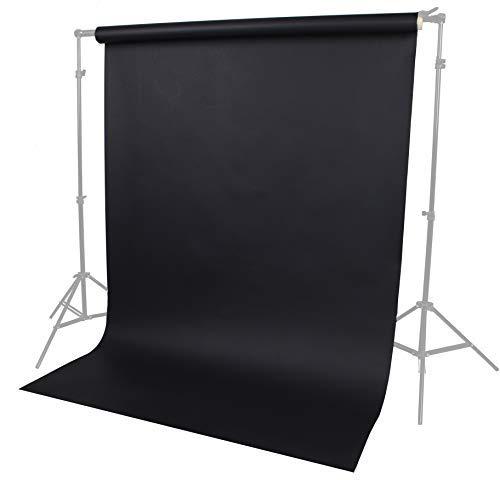 Fotostudio Papierhintergrund Haustier, Produkt, Porträtfotografie 1,35 m Breite 10 m Länge Schwarz Lencarta