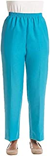Alfred Dunner Women's Petite Proportioned Short Poly Gab Pant