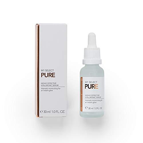 Hyaluronsäure Serum | 30 ml hochkonzentriert | von der Nr. 1 für Schönheitsmedizin und den Experten für Hyaluron | hochwirksames Anti Aging gegen Falten | M1 SELECT PURE SERUM