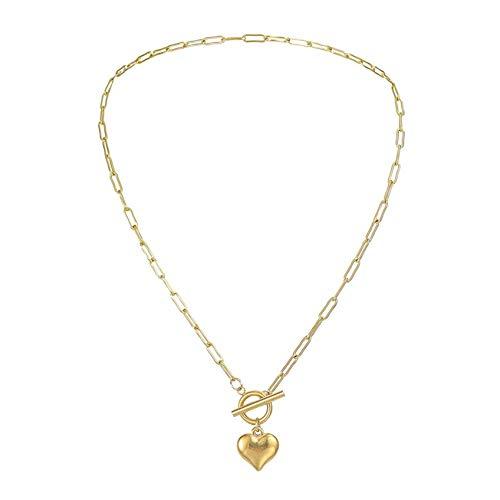 ZHDXW Collares de mujer clásicos de metal grueso collar de cadena de color collar de piedra collar de diseñador collar de joyería regalos Dropship o regalos de joyería para mujer