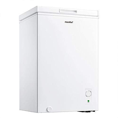 COMFEE' 99 Litre Freezer RCC140WH1(E) Long Term Storage Chest Freezer with D+ Cooling System
