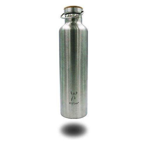 ISYbe Trinkflasche Edelstahl, BPA-frei, auslaufsicher, isoliert, nachhaltig (1000ml)