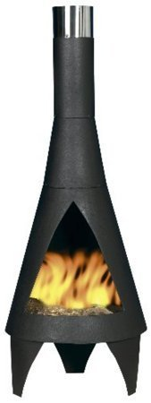 Oxford Barbecues (free cover) 160cm Extra Large Black Colorado Chiminea Chimenea Patio Heater