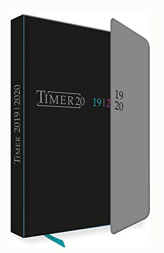 Trötsch Verlag  201909 - Schülerkalender 2019/2020 mit Klappe, Black, ca. 12 x 17 cm, 128 Seiten