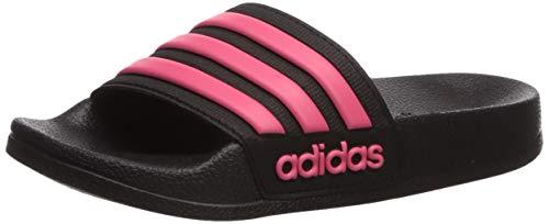 adidas Girl's Adilette Shower Sandal, Glory Pink/Black, 6 Medium US Little Kid