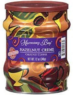 Harmony Bay Hazelnut Creme Ground Coffee (Case of 6)