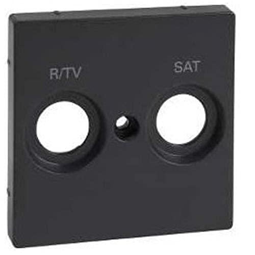 Placa para tomas inductivas R-TV y SAT, serie 82 Concept, 1 x 5,5 x 5,5 centímetros, color negro mate (referencia: 8200097-098)