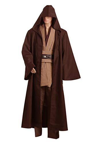 Fuman Disfraz de caballero Kenobi Túnica, Cosplay, color marrón, versión XL