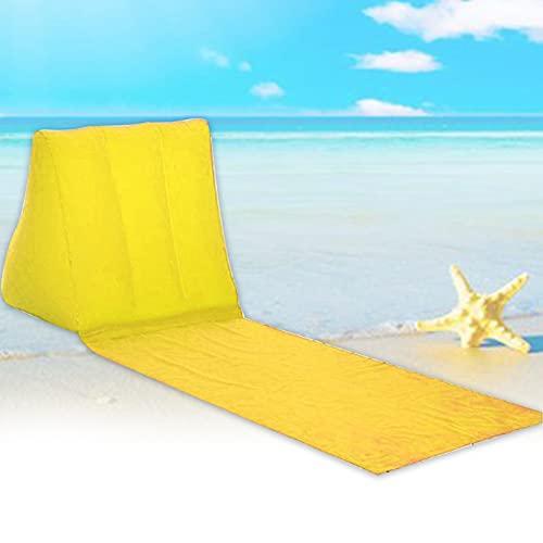 MOVKZACV - Tappetino da spiaggia con cuscino gonfiabile a forma di cuneo, pieghevole, impermeabile, per schienale e lettino, materasso per lettino ad aria