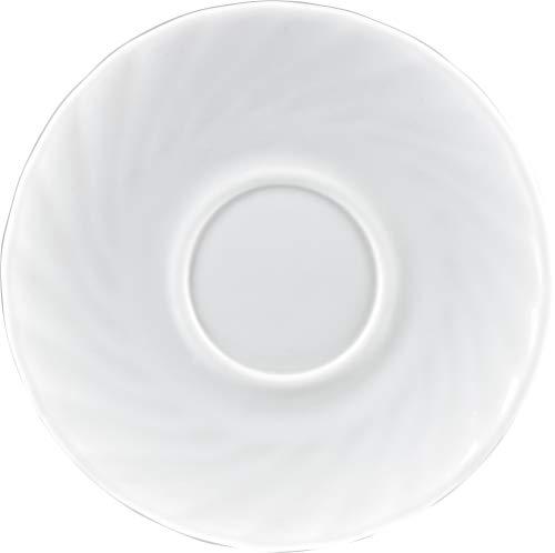 Arcoroc Trianon - Platillos de café (6 unidades, 145 mm de diámetro), color blanco