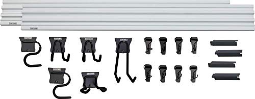 CRAFTSMAN Versatrack Garage Storage System, Storage Rail with 20-Piece Mounting Accessories (CMST22000)