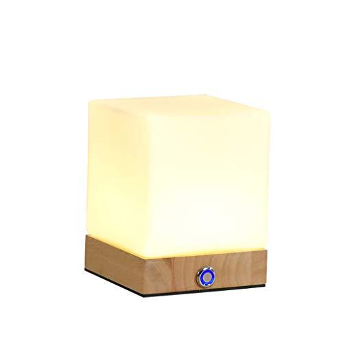 XUANLAN Veilleuse Petite Lampe de Table Chambre À Coucher Chevet Créatif Charge Protection des Yeux Dimmable Alimentation de Bébé Nouveau-Né en Plein Air Night Light (Color : White Light)