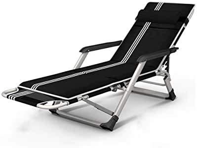 MGE Tumbona Tumbona reclinable Silla Plegable for Trabajo Pesado con Bolsa de Transporte for Acampar Cuna de Adultos de los niños Apoyos de Cama portátiles 200kg Camastros