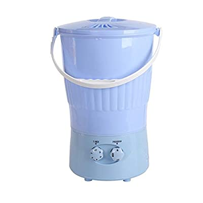 ZQY Portable Mini Washing Machine With Multiple Buckets Is Perfect For Cleaning Clothes Anytime, Anywhere 10 Liters Capacity 13 * 18 Inches (Color : A)