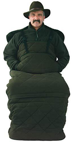 La Chasse zitzak met vezelbont binnenvoering warm gevoerd tegen klirende kou zak voor de zitplaats met binnenvoering van bont geruisloos & winddicht van katoen met Teflon®-coating voor hoge stoel