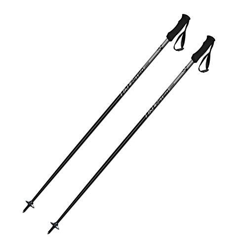 Fischer Unisex– Erwachsene Unlimited Skistöcke, schwarz, 125 cm