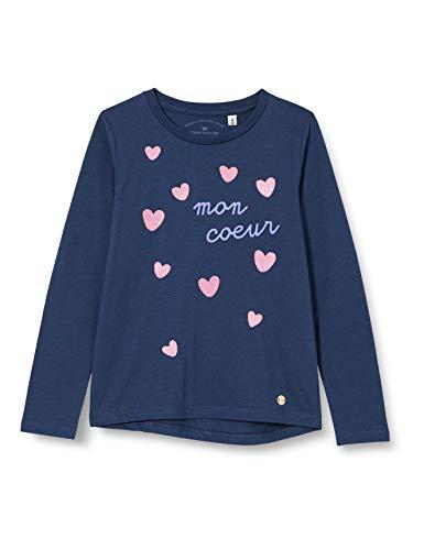 TOM TAILOR Baby-Mädchen Langarmshirt T-Shirt, Dress Blues|Blue, 116/122