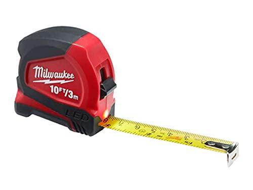 Milwaukee Hand Tools - Cinta métrica LED de 3 m (ancho: 12 mm)