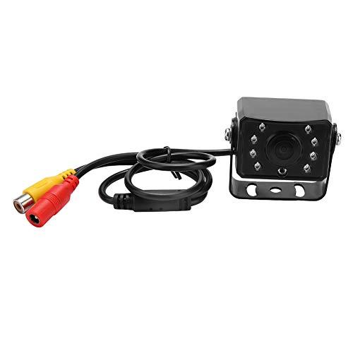 Qiilu Cámara de visión Trasera para automóvil, 24V 8 IR LED Noche HD Cámara Resistente al Agua Vista Posterior para automóvil Cámara de Seguridad de Respaldo inversa