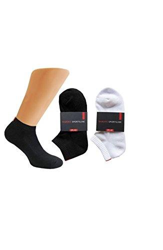 Dameris 6 PAAR Damen Sneaker Socken Sportline Frotteesohle 9180 (39/42, schwarz)