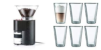 Bodum Bistro Grinder Bundle w/Canteen Double Wall Glasses Black - 10903-01US
