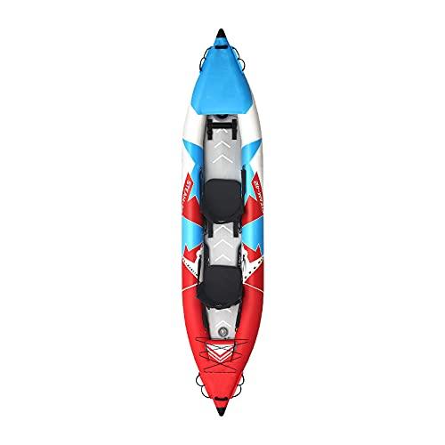 Gaoweipeng 1-2 Personas Kayak Hinchable Plegable Conveniente Bote Inflable Comodidad Piraguaseguridad Balsa Estabilidad Barco Adulto Unisex Canoa,Single Without Paddle