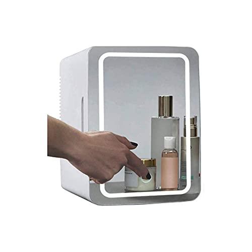 Mini Maquillaje Nevera, Frigorífico pequeño Multifuncional,pequeño congelador silencioso,Muy Adecuado para Oficina, Dormitorio,...