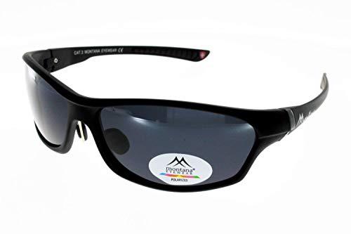 Montana Eyewear Sunoptic SP307 - Gafas de sol (incluye estuche blando), color negro