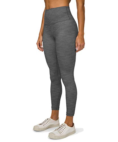 Lululemon Align II Stretchy Yoga Pants - High-Waisted Design, 25 Inch Inseam, Mini Heathered Herringbone Heathered Black White, Size 10