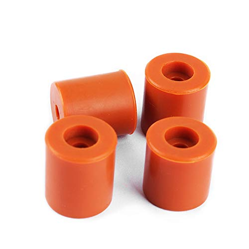 Redrex 3D Printer Hot Bed Mounts Buffer Silicone Heatbed Leveling Column for Prusa i3 Plus,Anet A8, Wanhao D9,I3 Mega,Ender 3 Series 3D Printer -Pack of 4