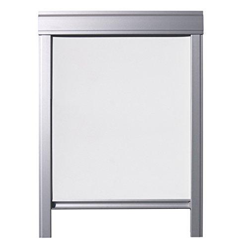 ITZALA Einfaches Verdunkelungsrollo für VELUX Dachfenster, S06, 606, S36, 636, Weiss