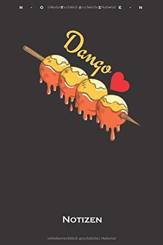 Dango mochiko Reisklößchen Notizbuch: Kariertes Notizbuch für Feinschmecker und Fans der asiatischen Küche
