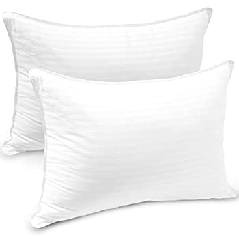 Sleep Restoration Pillows for Bed – Queen Size Set of 2 Premium Quality Gel Fibre Filled Cotton Cooling Pillow 2 Pack for Luxury Down-Alternative Comfort