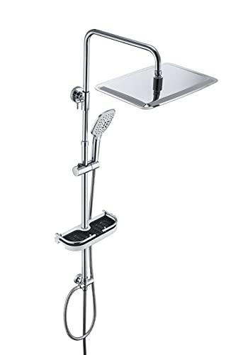 JOHO Regendusche Duschsystem mit Ablage (3525 mit Ablage CP)