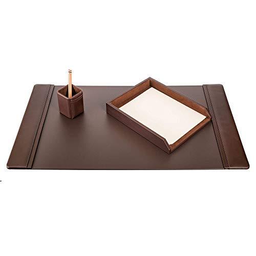 Dacasso Schreibtisch-Set, Schokolade Braun, 3-teilig