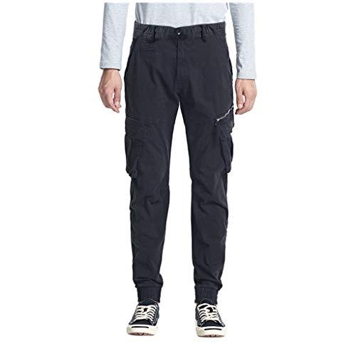 Heren Cargo Broek Militaire Combat Werk Smart Sweatpants Casual Chino Katoen Jogger Broek met Multi-Pocket Losse Fit