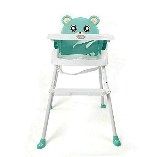 N-A Silla Alta Silla de alimentación Ajustable para bebé Silla de Comedor Asiento Elevador Plegable