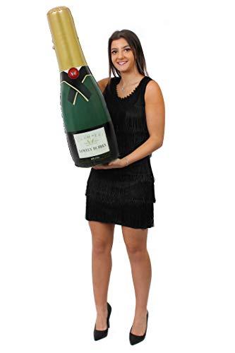 ILOVEFANCYDRESS 1 AUFBLASBARE Champagne Flasche UNGEFÄHR 73cm HOCH= DIE PERFEKTE Dekoration FÜR Jede Art DER Party DER Hochzeit ODER Geburtstag